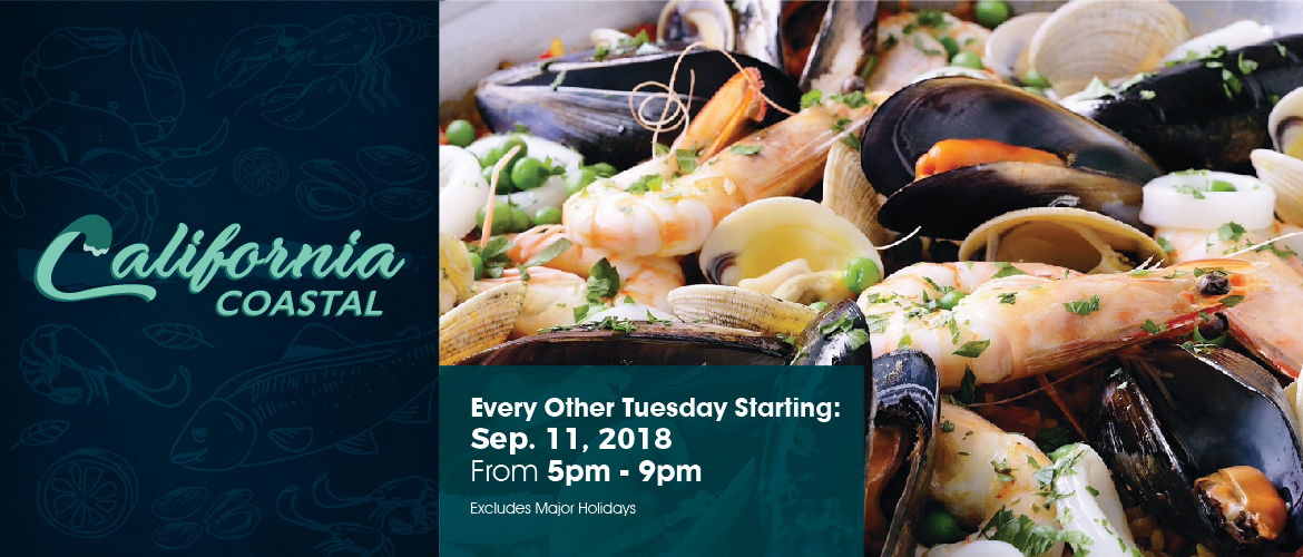 California Coastal at UTK. Every other Tuesday starting September 11, 2018, from 5pm-9pm. Excludes major holidays.